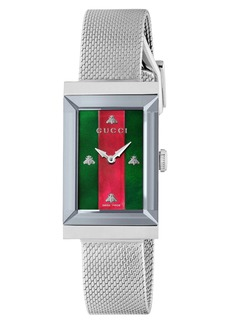 Gucci G-Frame Mesh Strap Watch, 21mm x 34mm
