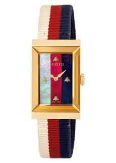 Gucci G-Frame Nylon Strap Watch, 21mm x 34mm