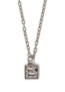 Gucci G-motif sterling-silver necklace