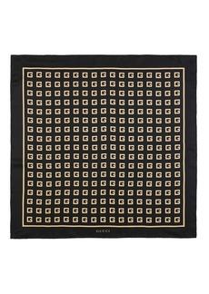 Gucci G Print Square Silk Scarf