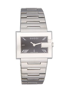 Gucci G-Rectangle Stainless Steel Bracelet Watch