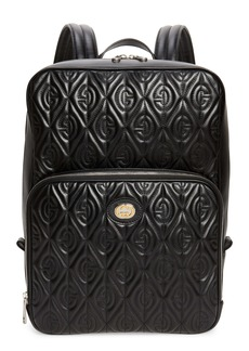 Gucci G-Rhombus Matelassé Quilted Leather Backpack