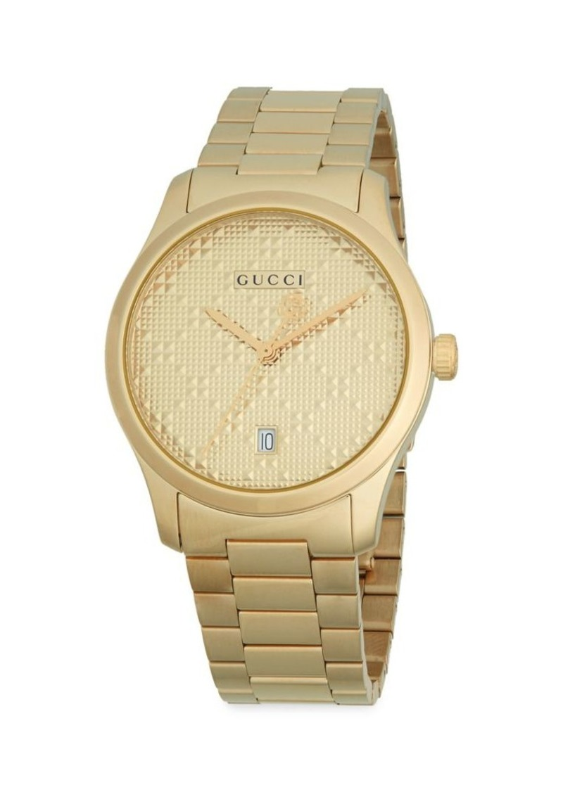 Gucci G-Timeless Goldtone Stainless Steel Bracelet Watch