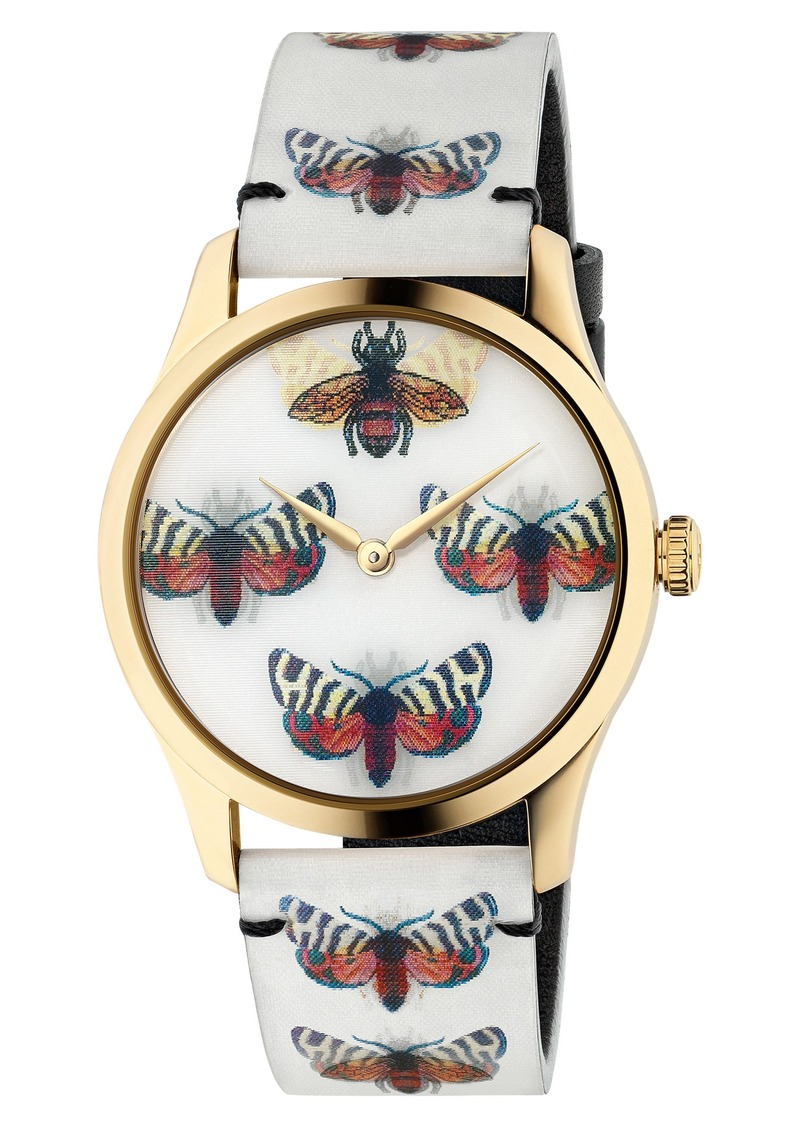 Gucci G-Timeless Holo Strap Watch, 38mm
