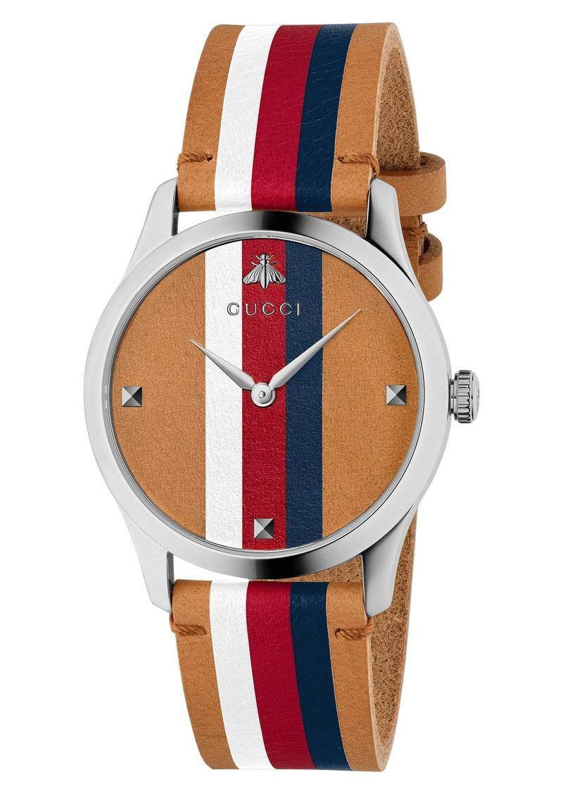 da5624ffa558 Gucci Gucci G-Timeless Leather Strap Watch
