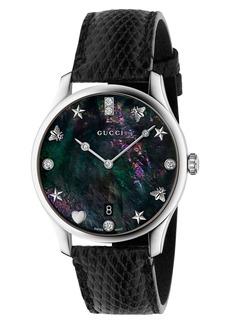 Gucci G-Timeless Lizard Strap Watch, 36mm