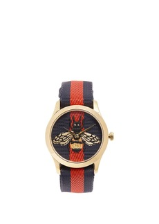 Gucci G-Timeless Web-striped watch