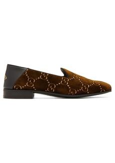 Gucci Gallipoli logo-jacquard velvet loafers