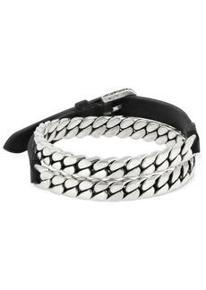 Gucci Garden Leather & Chain Bracelet
