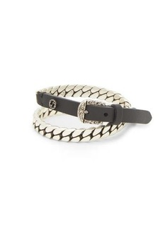 Gucci Garden leather and metal bracelet