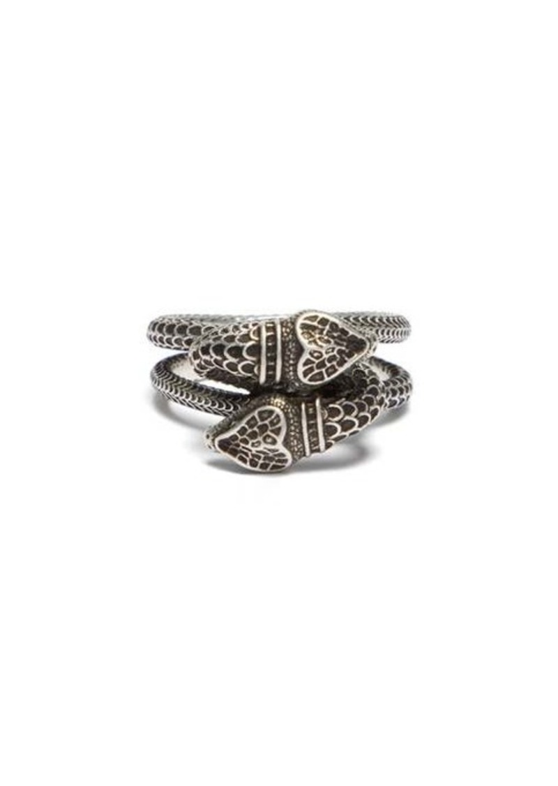 Gucci Garden snake sterling-silver wrap ring