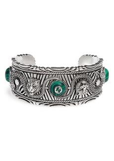 Gucci Garden Sterling Silver Cuff Bracelet