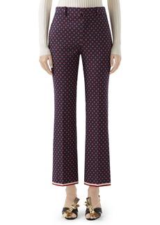 Gucci Geometric Logo Jacquard Ankle Bootcut Pants