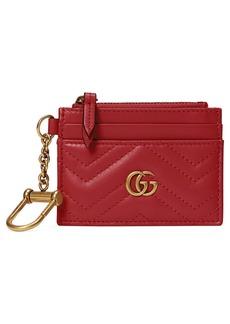 Gucci GG 2.0 Key Chain Matelassé Leather Card Case