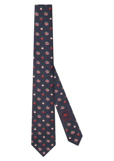 Gucci GG Apple Silk Jacquard Tie
