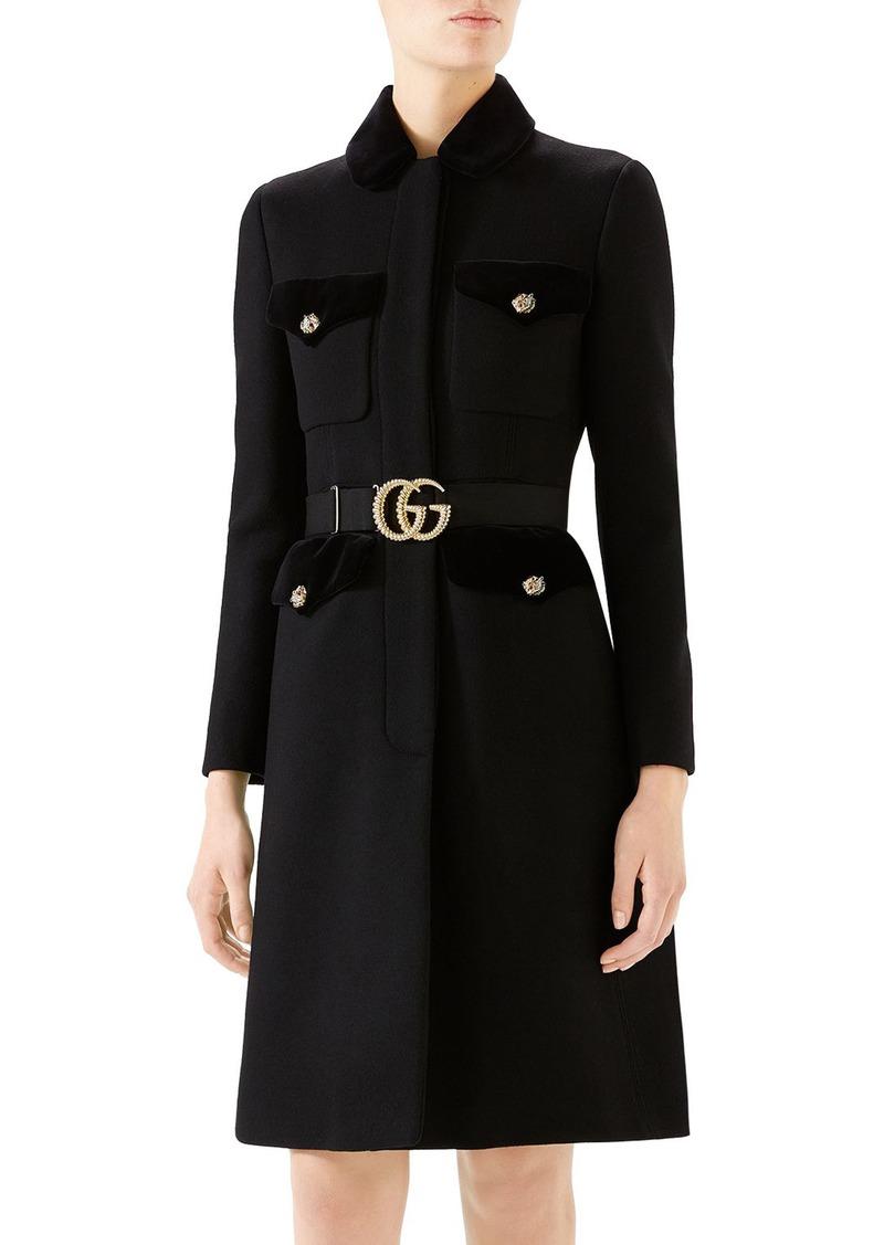 Gucci GG Belt Military Coat