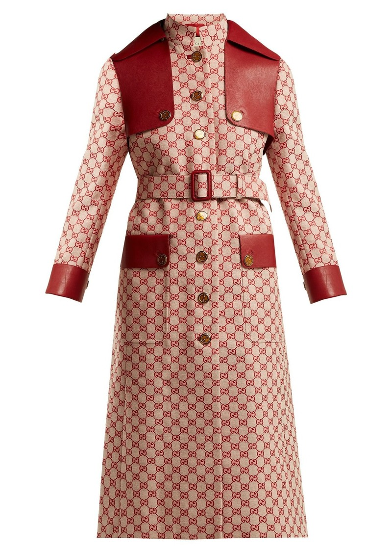 best site hot-selling official special discount of GG-canvas cotton trench coat