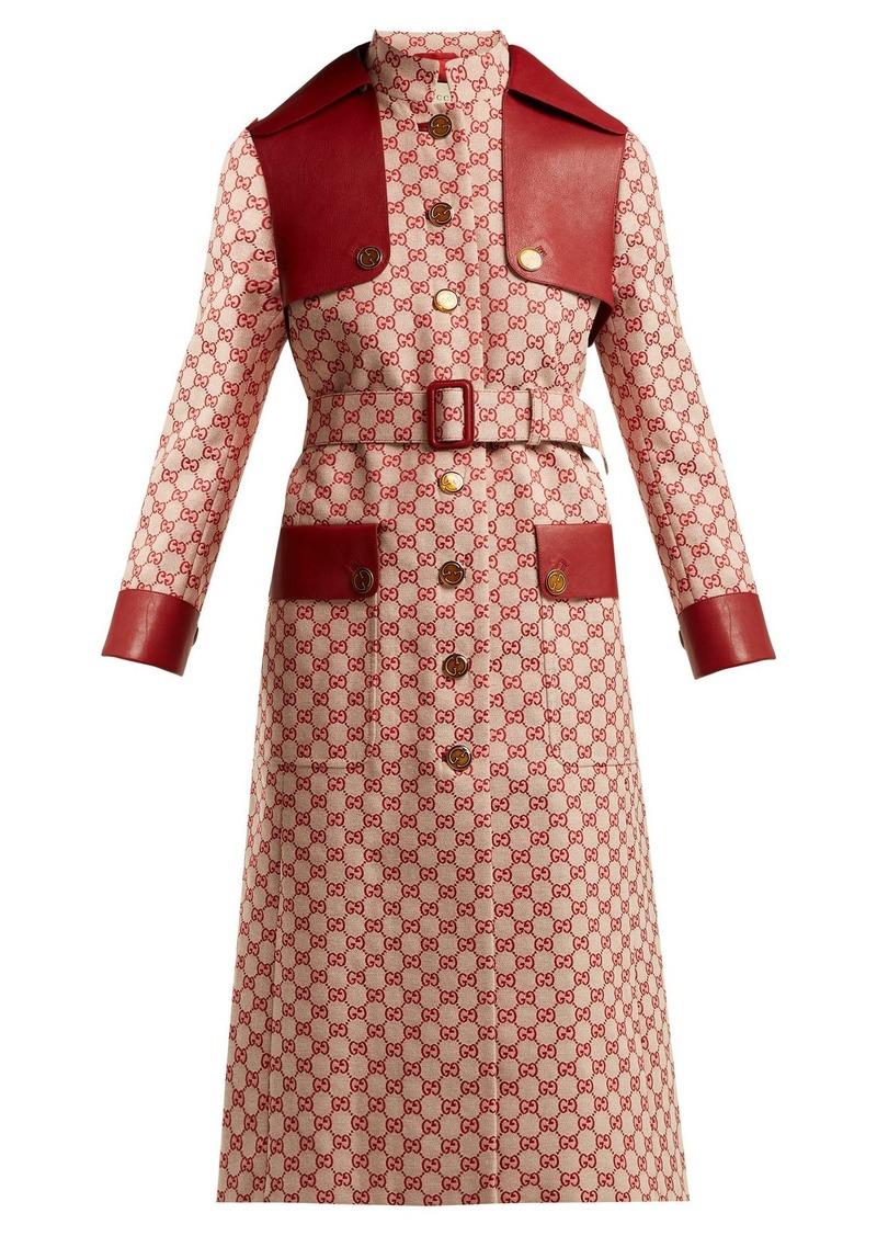2d0080ad5fa Gucci Gucci GG-canvas cotton trench coat | Outerwear
