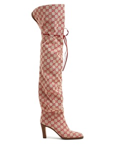 Gucci GG canvas over-the-knee boots