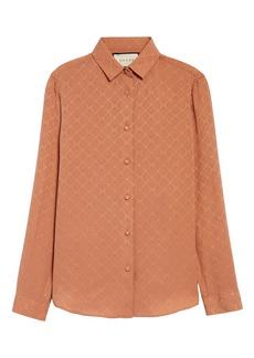 Gucci GG Check Silk Crêpe Jacquard Shirt