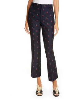Gucci GG Cherry Cotton & Wool Fil Coupé Pants