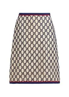 Gucci GG cotton-blend macramé skirt