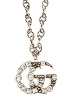 Gucci GG crystal-embellished pendant necklace