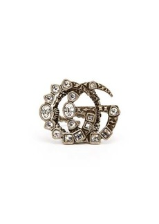 Gucci GG crystal-embellished ring
