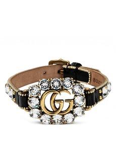 Gucci GG Crystal Leather Bracelet