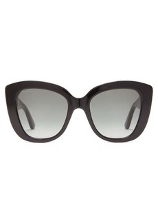 Gucci GG-embossed butterfly acetate sunglasses