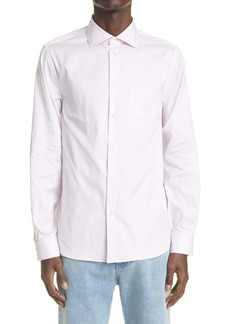 Gucci GG Embroidered Pinpoint Long Sleeve Button-Up Shirt