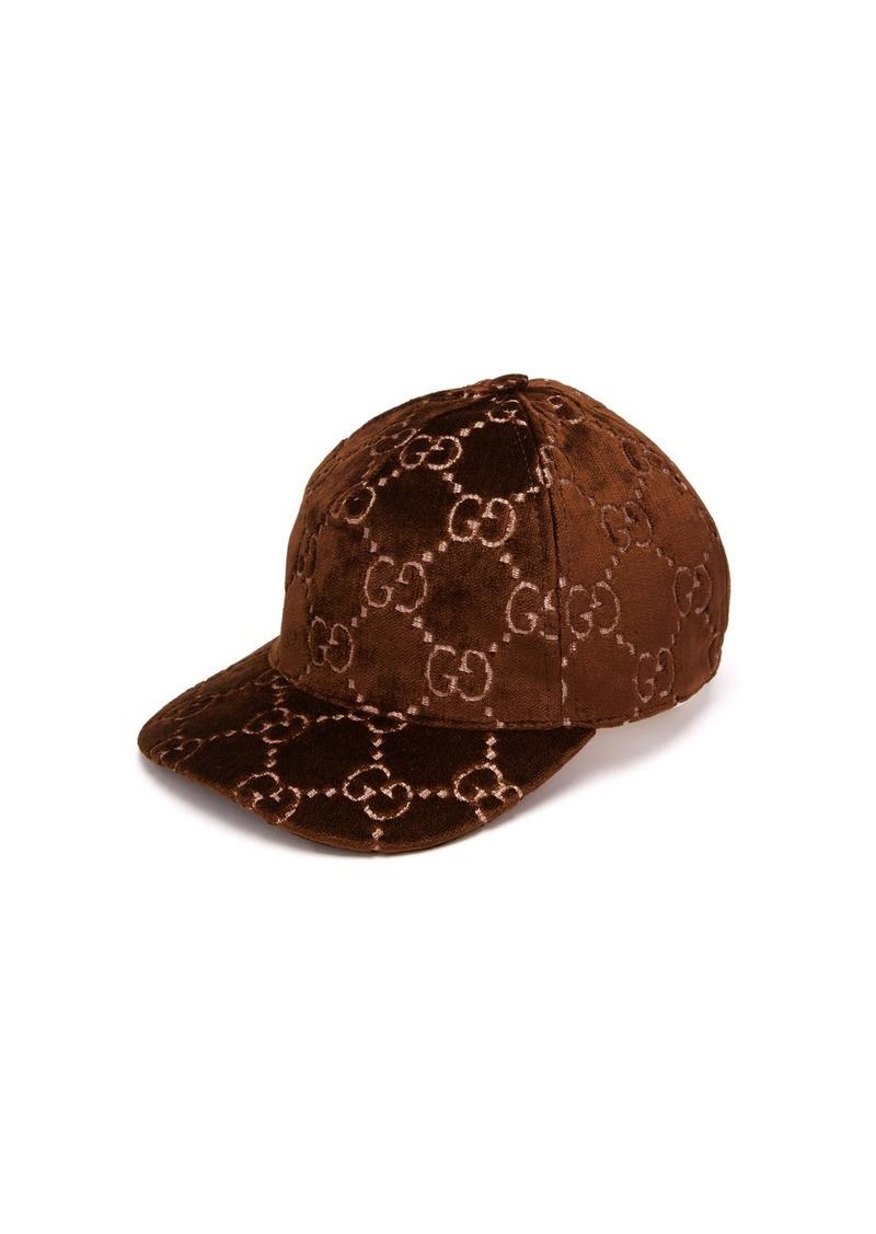 1e15931ab Gucci Gucci GG-embroidered velvet cap