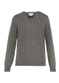 Gucci GG-embroidered wool-blend sweater