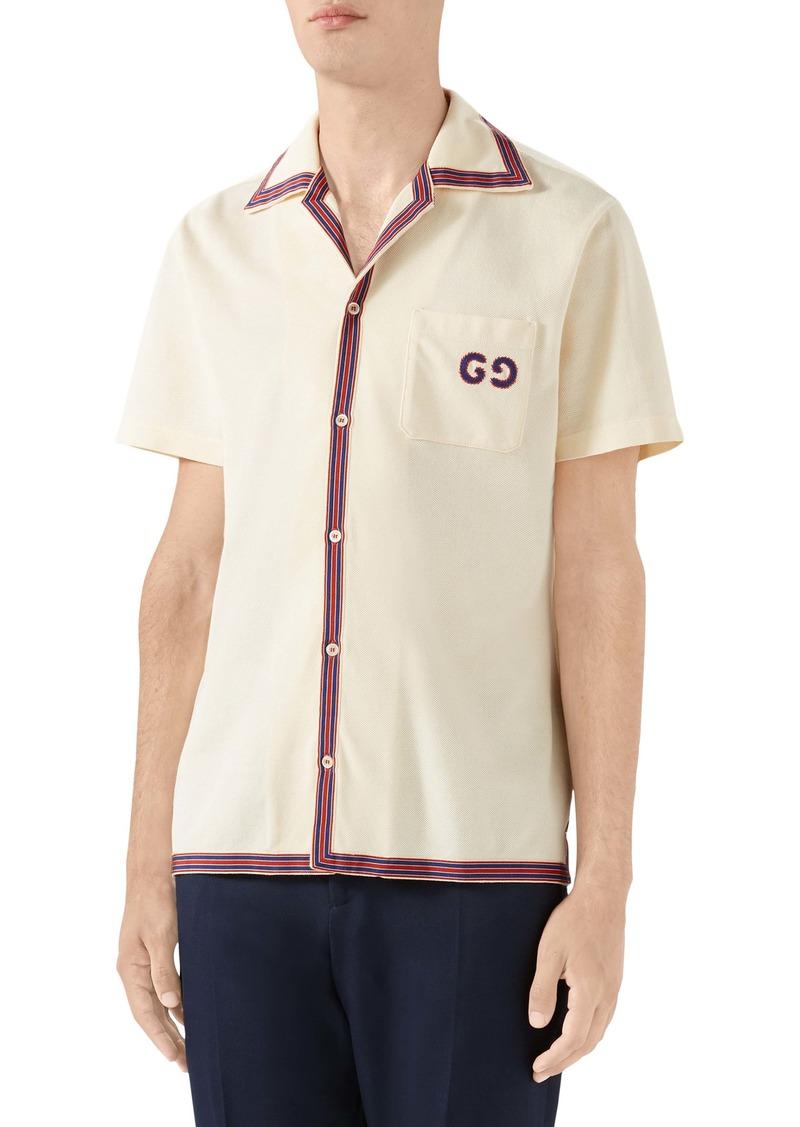 Gucci GG Embroidery Bowling Shirt