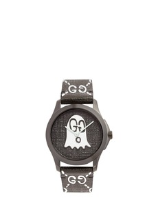 Gucci GG-Ghost saffiano-leather watch