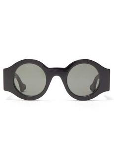 Gucci GG-hardware round acetate sunglasses