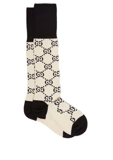 Gucci GG-intarsia cotton-blend knee-high socks