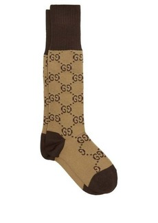 Gucci GG-intarsia cotton-blend socks