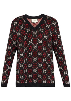 Gucci GG intarsia-knit alpaca and wool-blend sweater