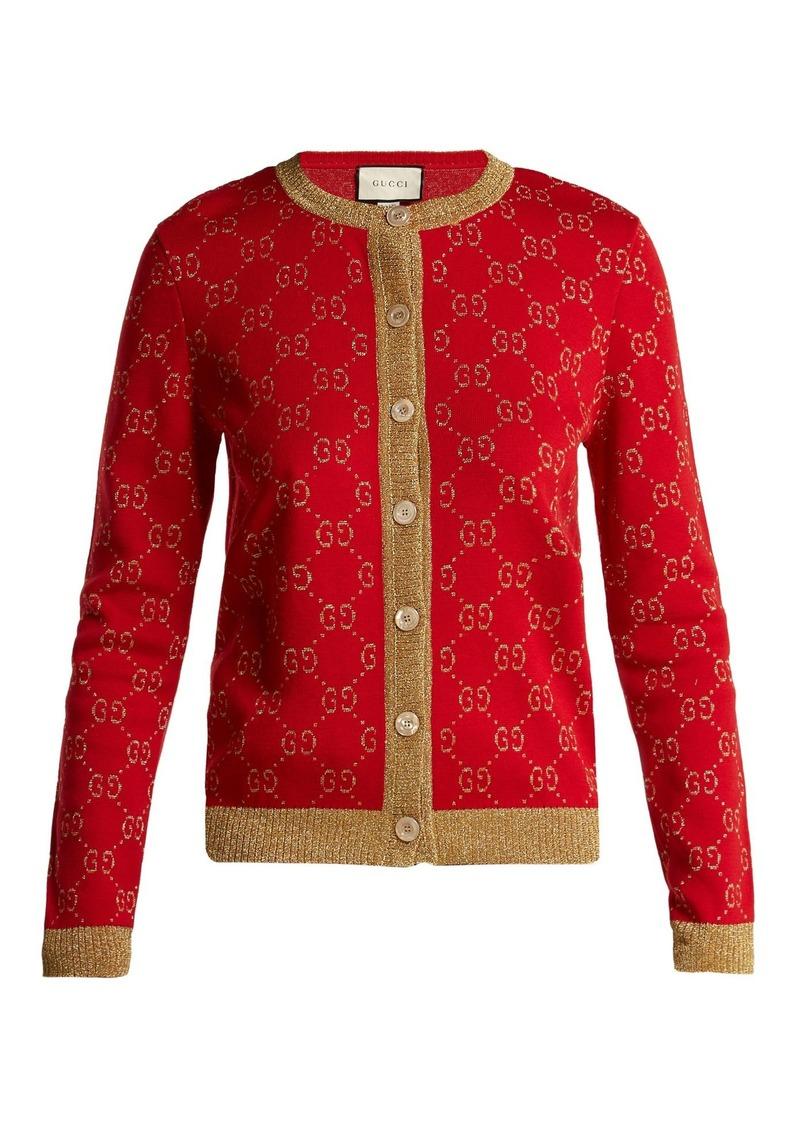 c429fcba01 GG jacquard-knit cotton-blend cardigan