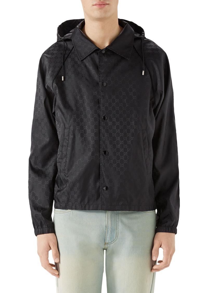 c47a3d7804c4 Gucci Gucci GG Jacquard Print Nylon Jacket