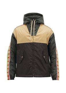 Gucci GG-jacquard shell hooded jacket