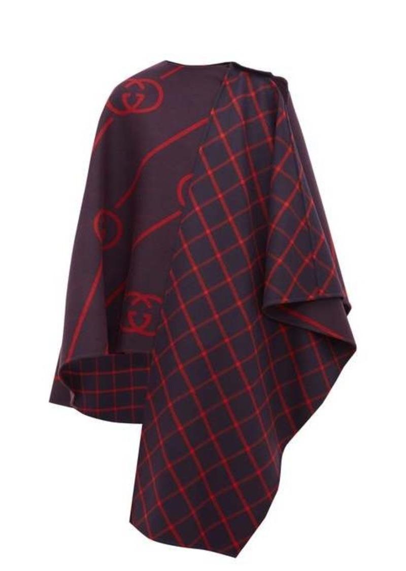 Gucci GG-jacquard wool-blend cape