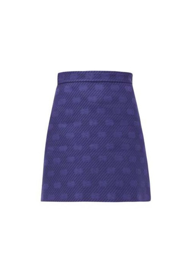 Gucci GG-jacquard wool-blend mini skirt