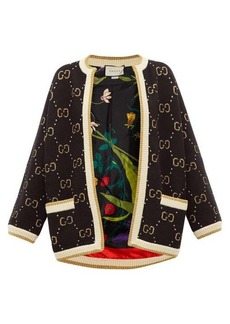 Gucci GG-jacquard wool cardigan