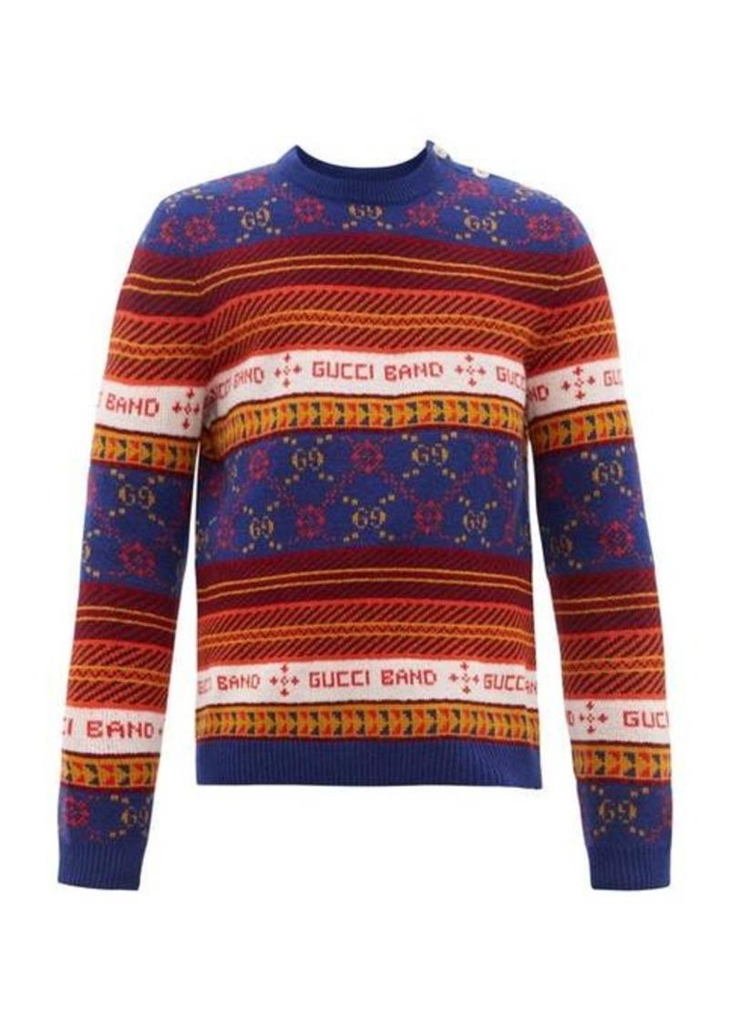 Gucci GG-jacquard wool sweater