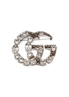 Gucci GG-logo brooch