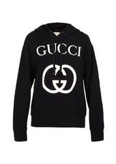 Gucci GG-logo cotton hooded sweatshirt