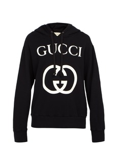 Gucci GG-logo cotton hooded sweatshirt