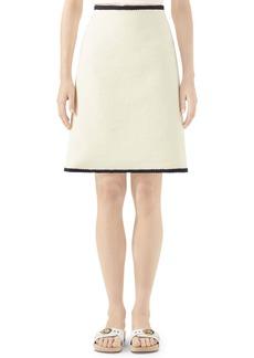 Gucci GG Logo Embossed Jacquard Skirt